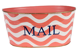 Small Mail Tub, Breakers Pink