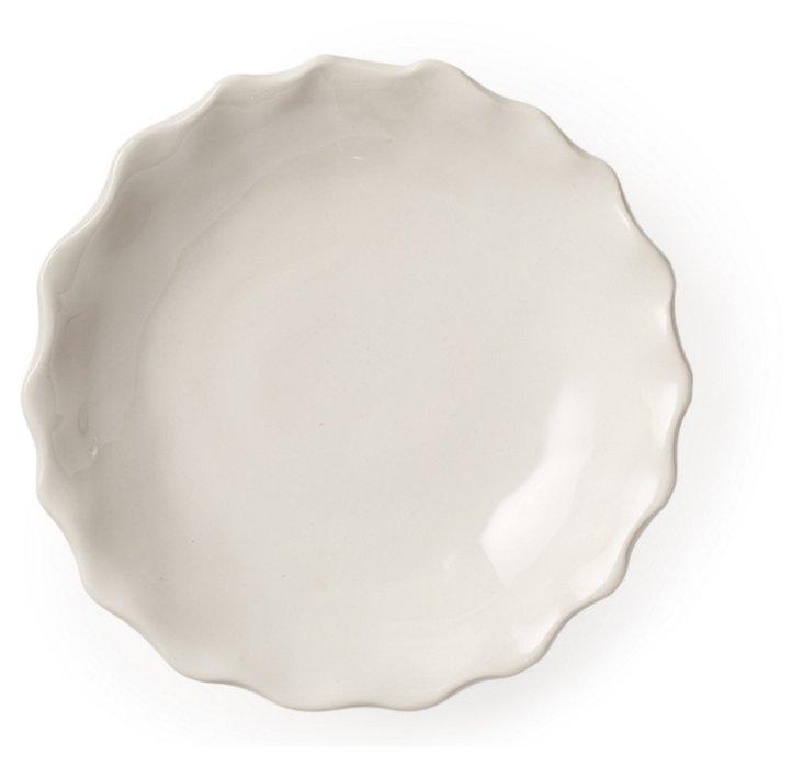 Corvette Small Ruffle Bowl, White