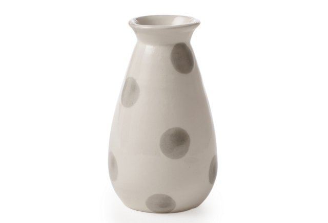 Jolie Bud Vase, Gray Dots
