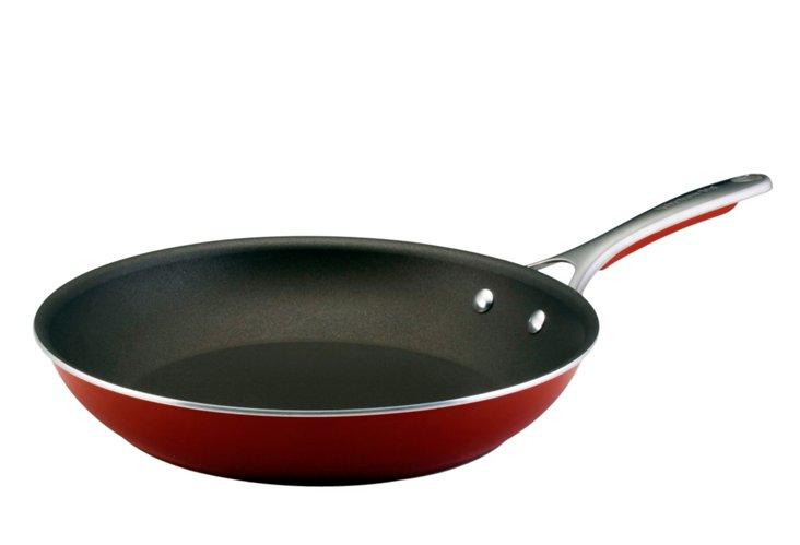 "12.5"" Gourmet Nonstick Skillet, Red"
