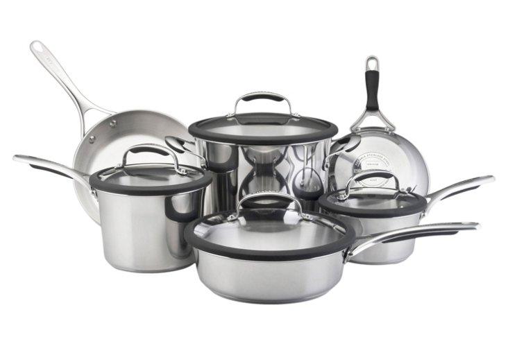 10-Piece Gourmet Stainless Cookware Set