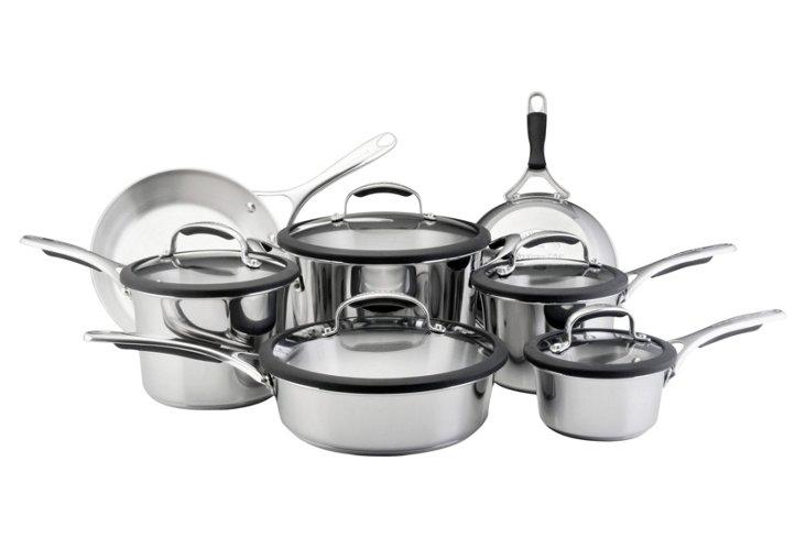 12-Piece Gourmet Stainless Cookware Set