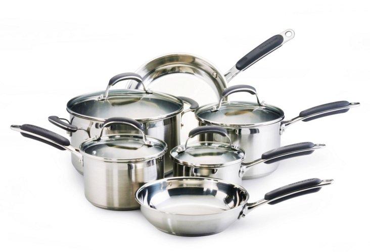 KitchenAid 10-Pc. Stainless Cookware Set