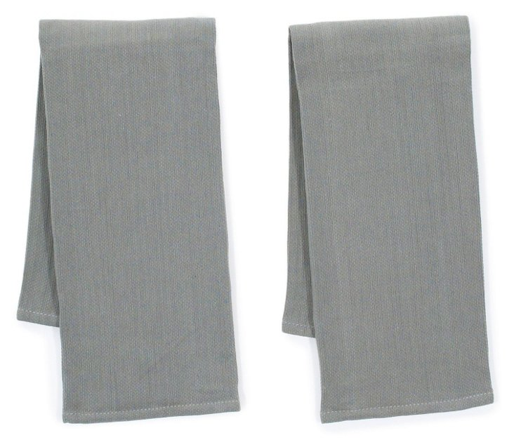 S/4 Whim Diamond Towels, Pewter