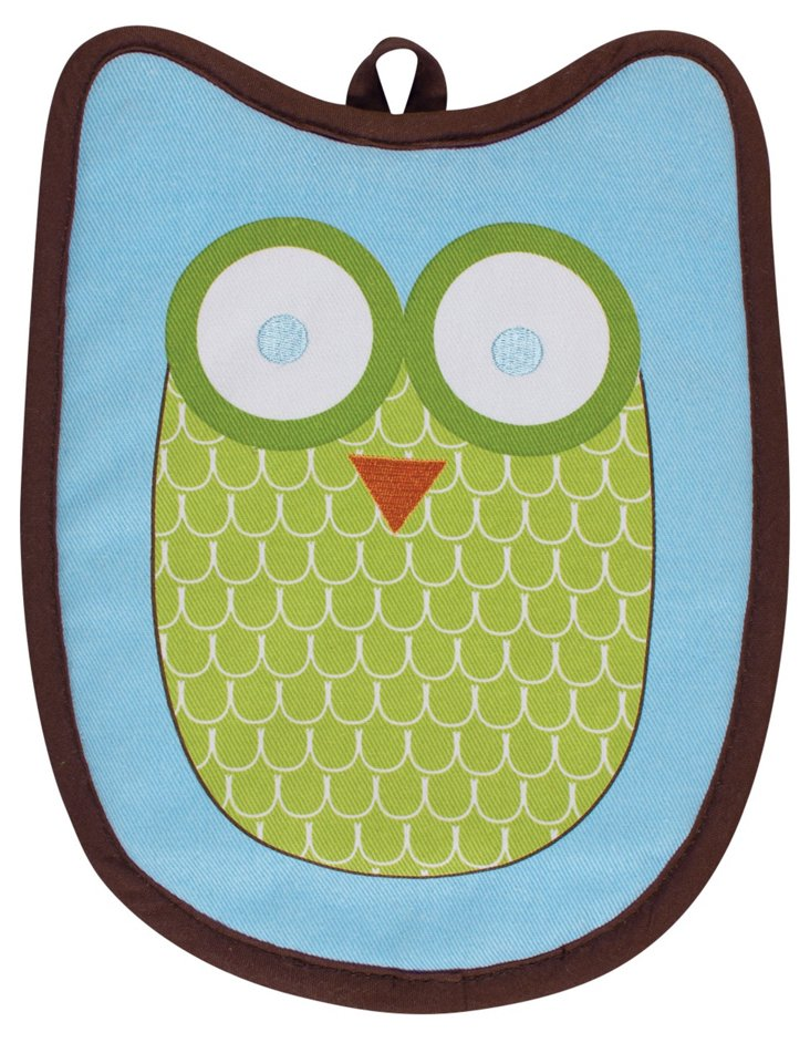 Set of 2 Hoot Shaped Mitts