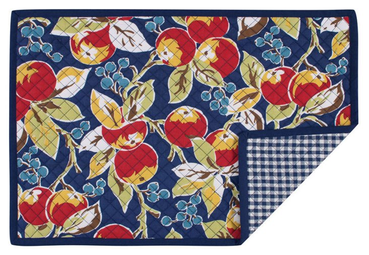 S/4 Fete Vintage Quilted Place Mats
