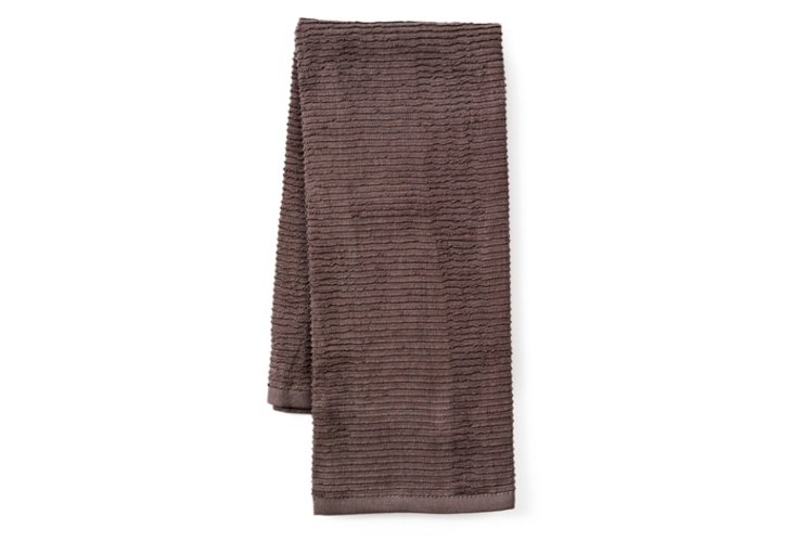 S/4 Terry Kitchen Towels, Pewter