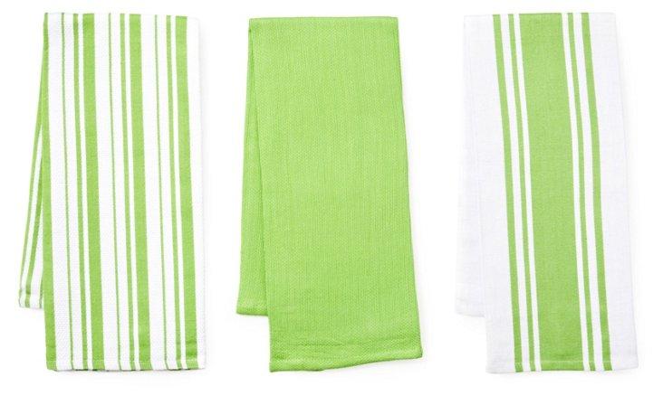 3-Pc Whim Kitchen Towel Set, Apple
