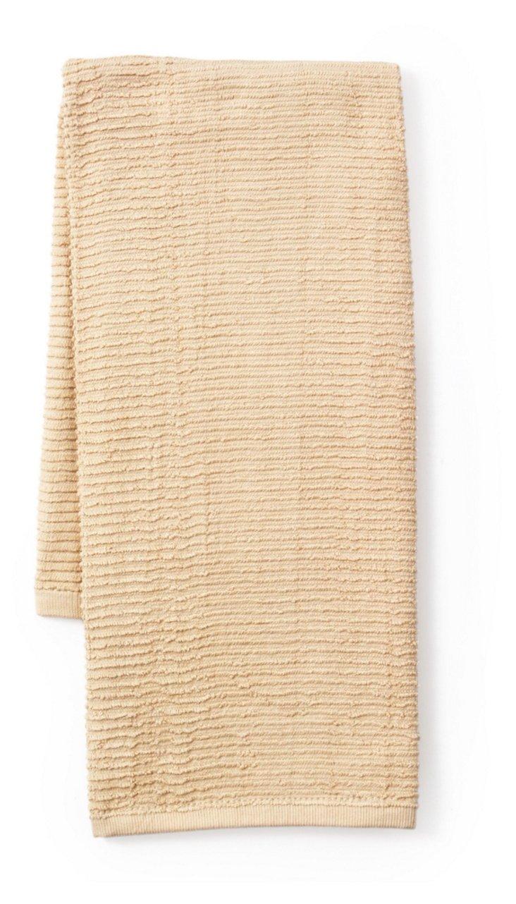 4-Pc Terry Kitchen Towel Set, Oatmeal