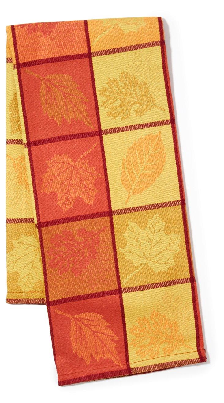 S/2 Kitchen Towels, Leaf