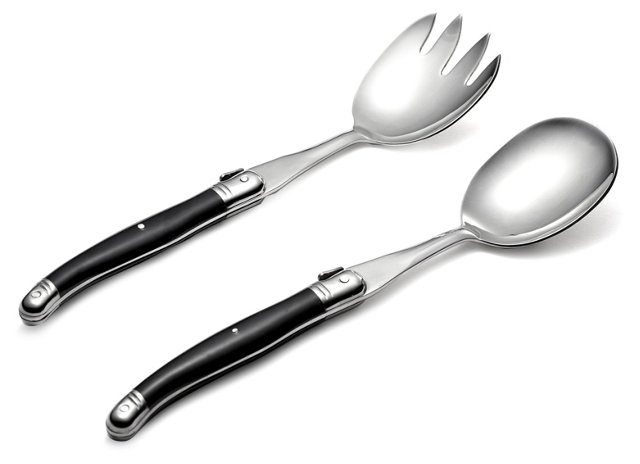 2-Pc Salad Set, Black