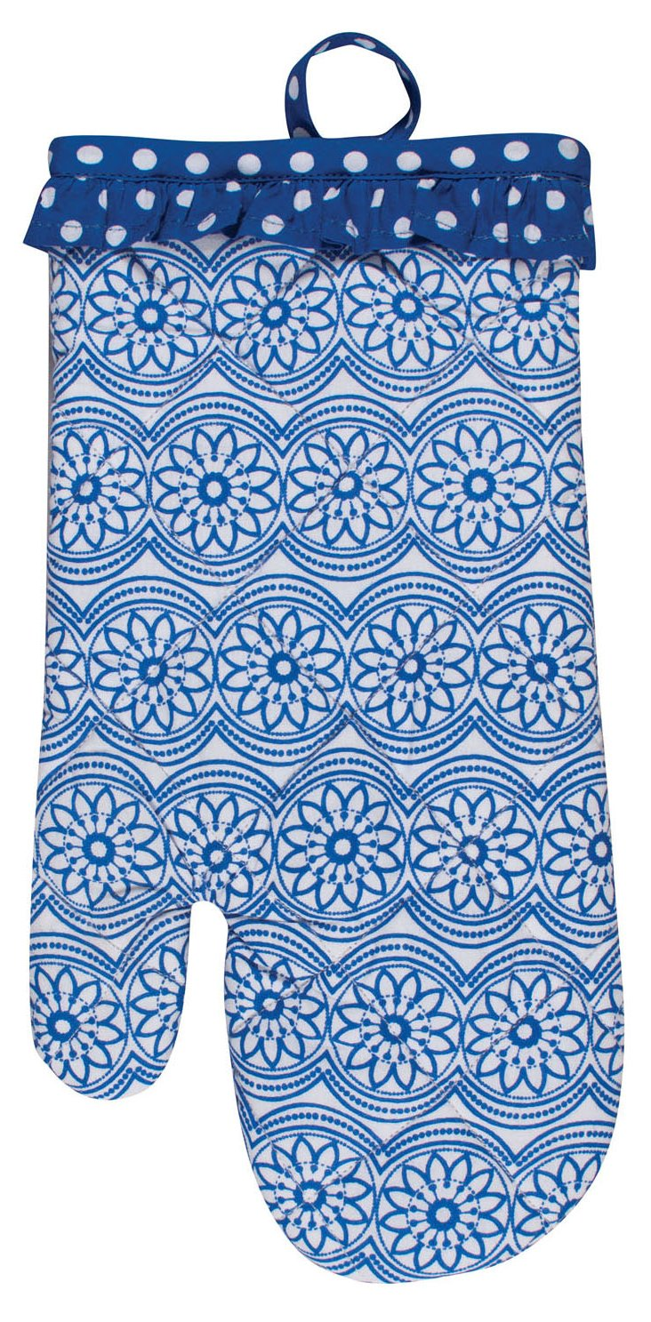 S/3 Whim Ellie Oven Mitts, Blue