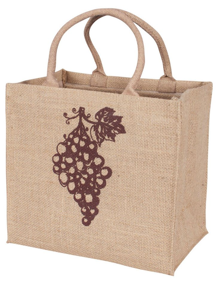S/2 Wine Totes, Grapes