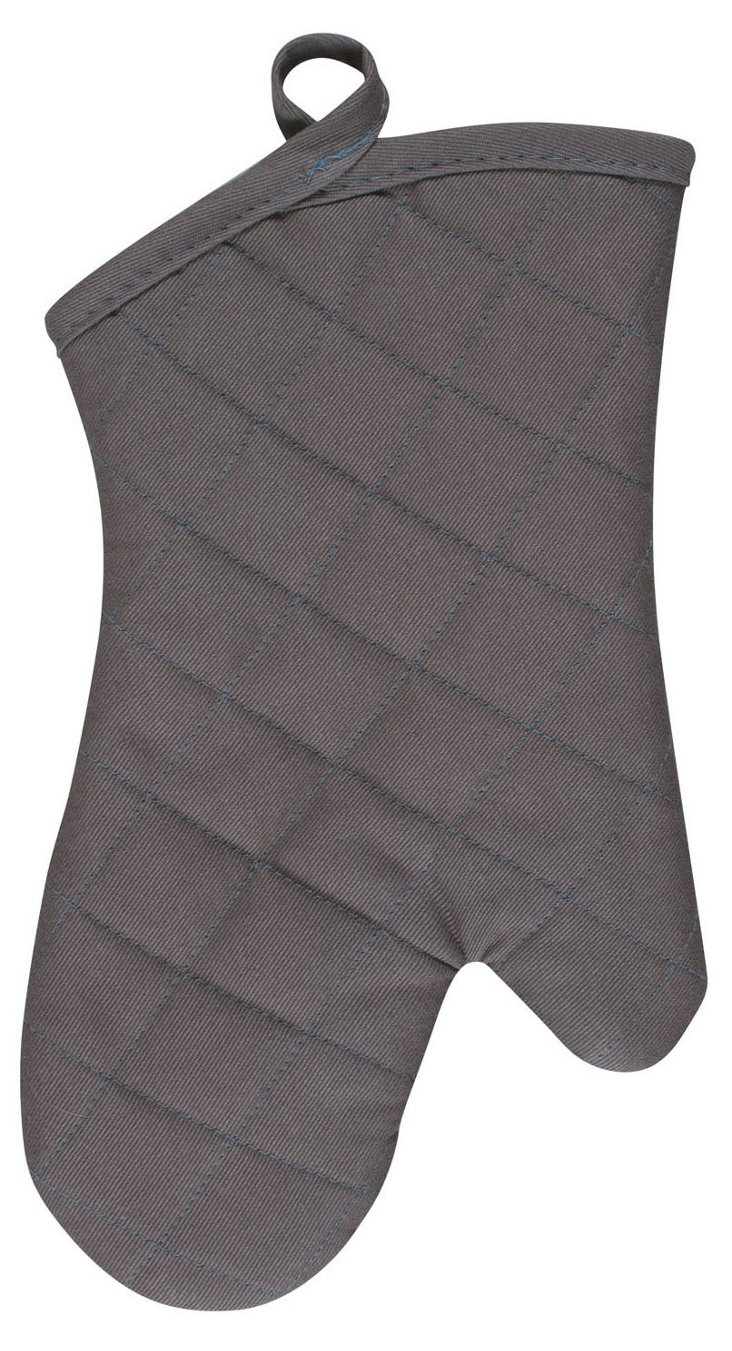 S/2 Oven Mitts, Pewter