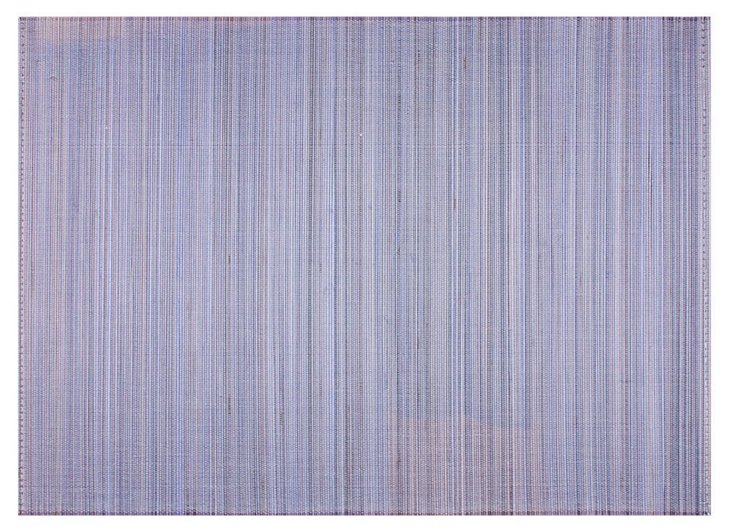S/4 Bamboo Place Mats, Periwinkle