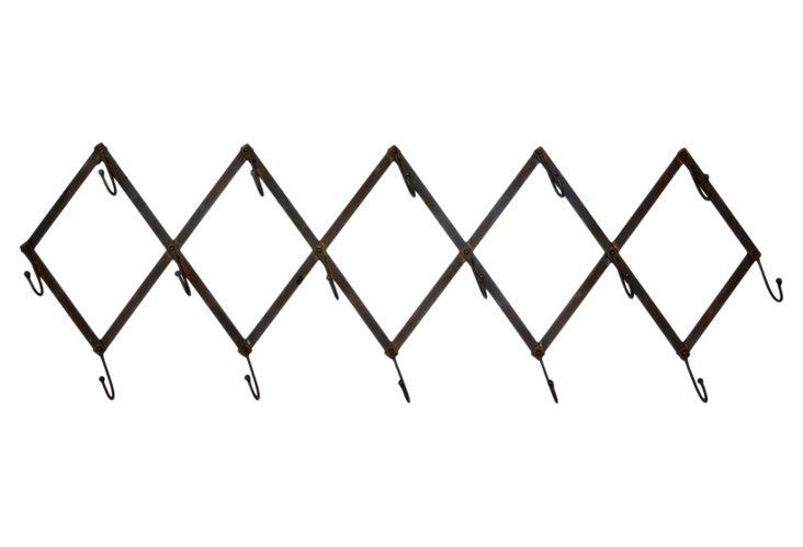 Adjustable Scissor Coat Rack
