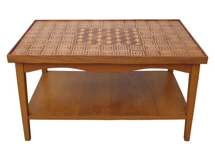 Vintage Parquetry Coffee Table
