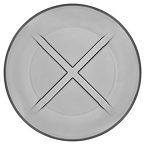 Bruk Salad Plate, Smoke Gray