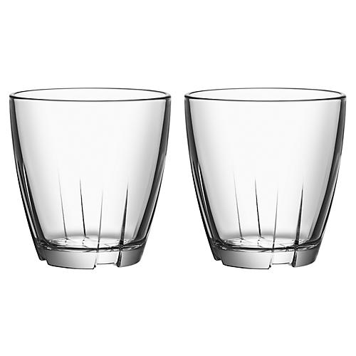 S/2 Bruk Short Tumblers, Clear