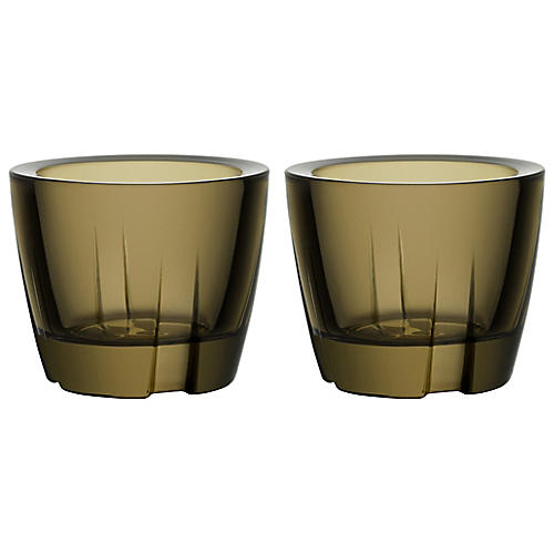 S/2 Bruk Anything Tumblers, Brown