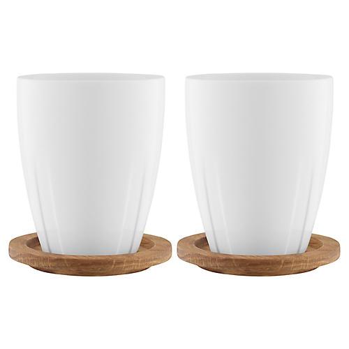 S/2 Bruk Mugs, White