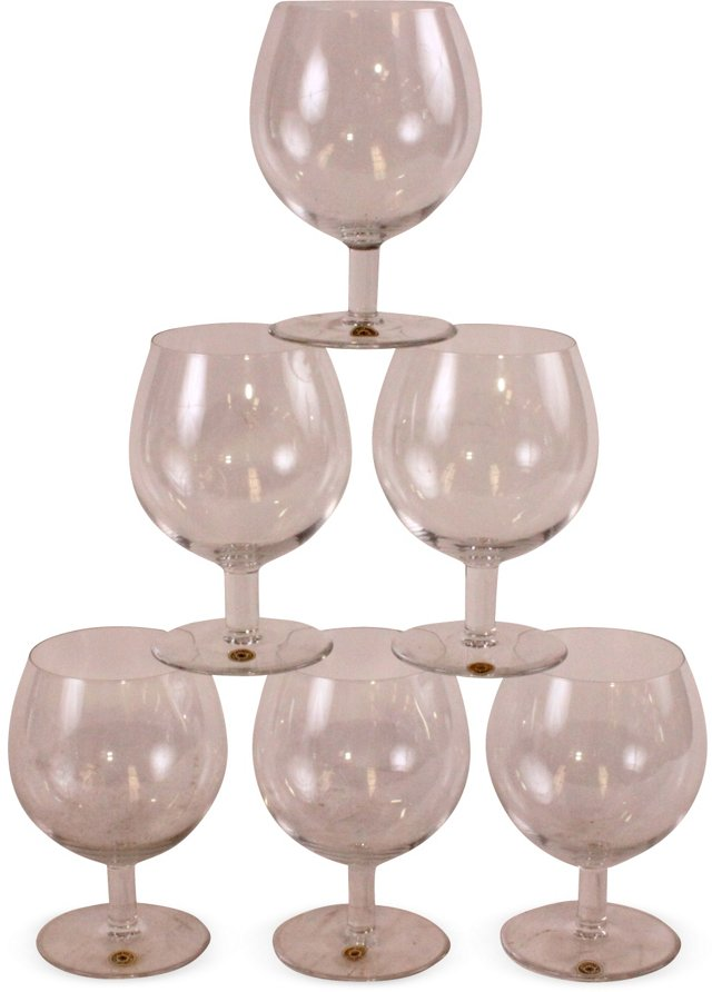 Val St.-Lambert Red Wine Glasses, S/6