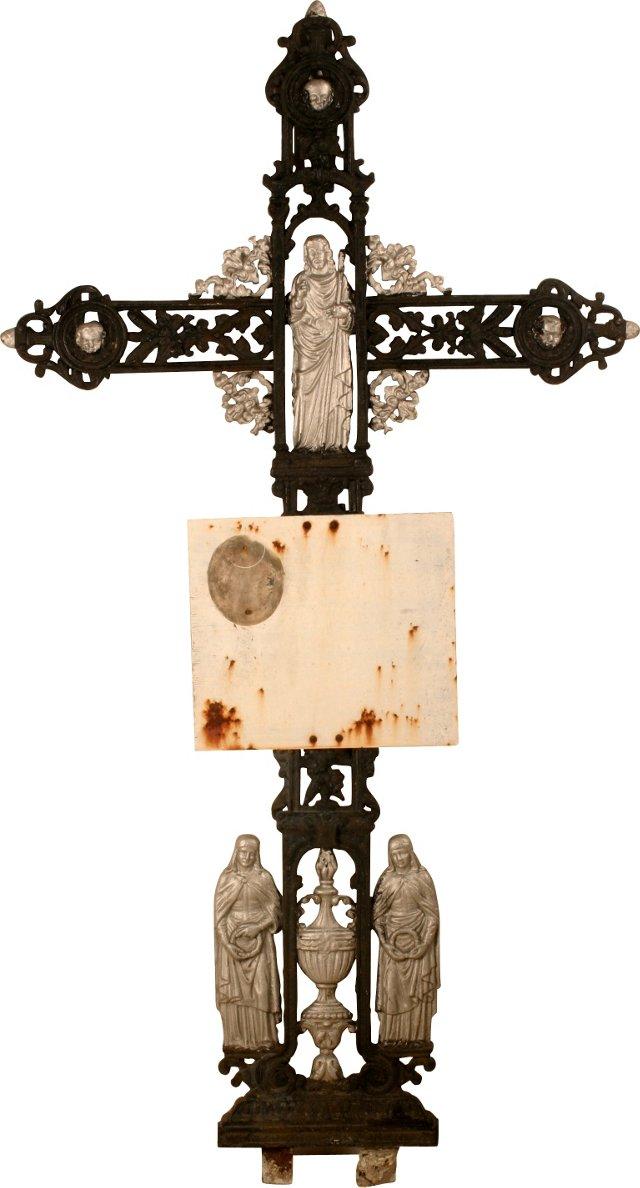 French Iron Crucifix