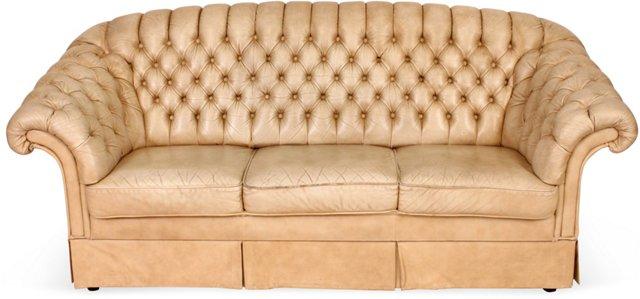 French Vanilla Chesterfield Sofa