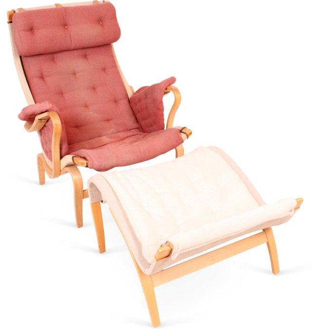 B. Mathsson Pernilla Chair & Ottoman II
