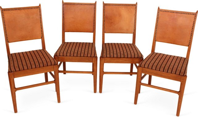 Danish Farm Chairs, Set of 4