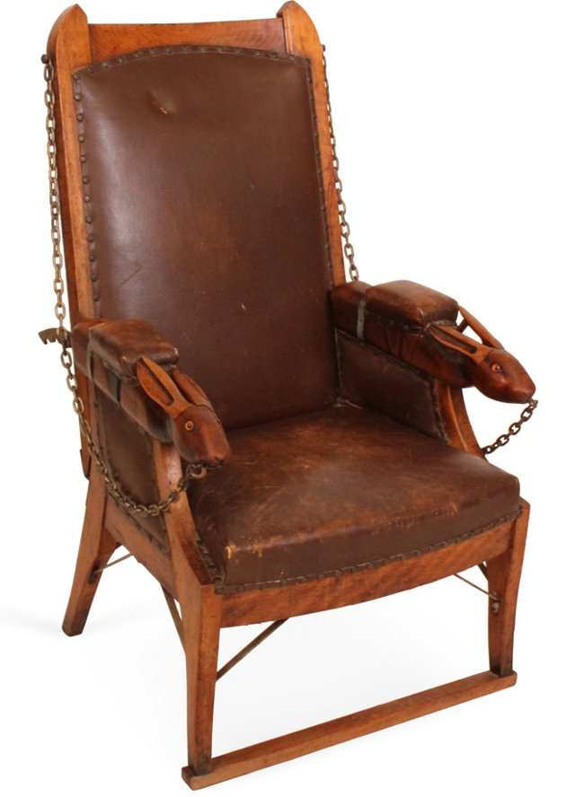 19th-C. Russian Rabbit Chair