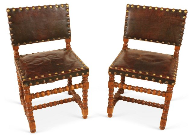 Antique Spanish Chairs, Pair