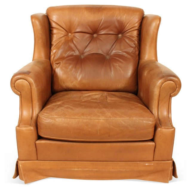 Dux Leather Wingback Chair
