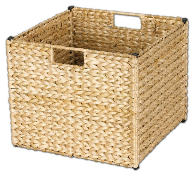 "13"" Square Storage Bin, Tan"