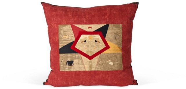 Animal & Sun Linen Pillow