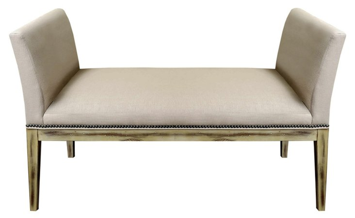 "Devon 51"" Bench, Cream"