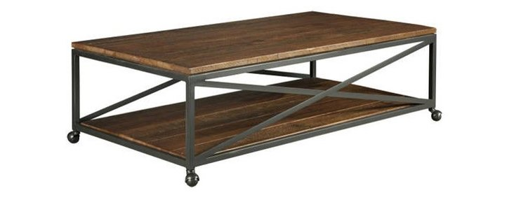 Ian Cocktail Table, Gunmetal/Oak