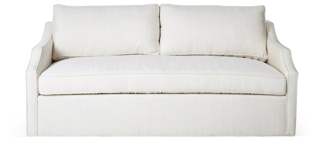 "Sharon 80"" Linen Sofa, Cream"