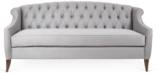 Coco Tufted Sofa, Pewter