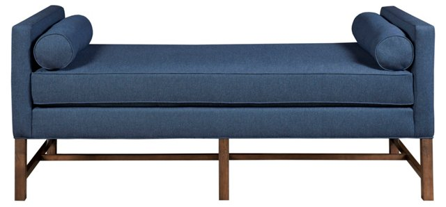 Andrew Linen Day Chaise, Navy