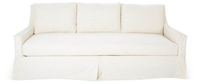 "Daisy 88"" Slipcovered Sofa, Cream"