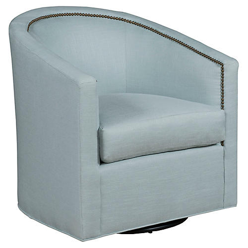 Georgia Swivel Club Chair, Cloud Crypton