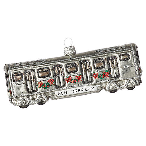 NYC Subway Ornament, Silver