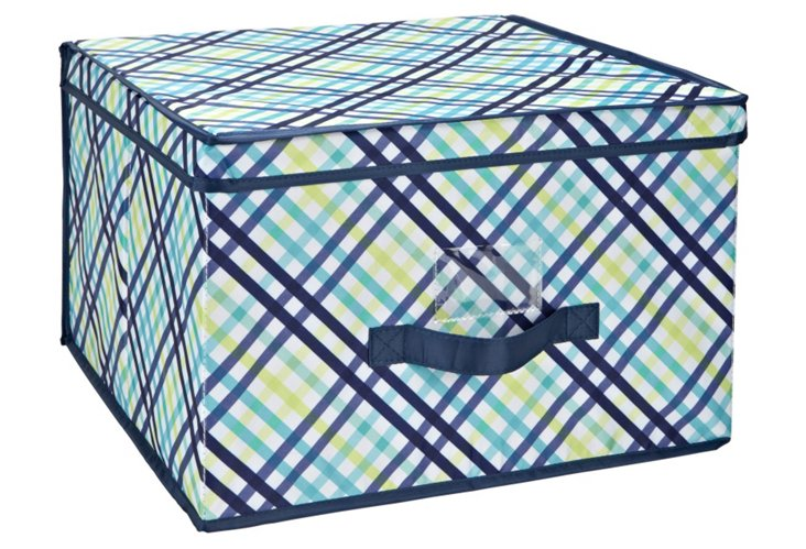 Large Storage Box, Garden Gingham