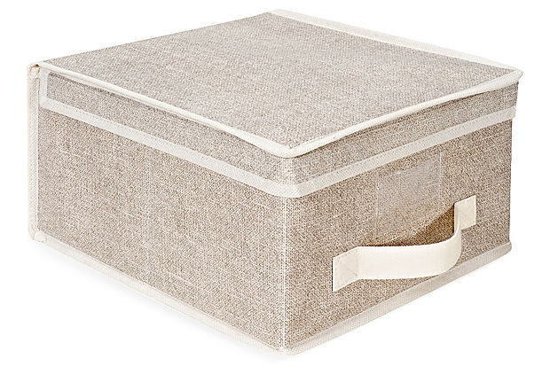 S/2 Medium Storage Boxes, Beige