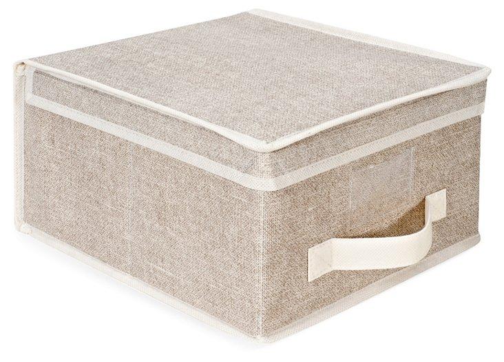 S/2 Medium Storage Boxes, Beige