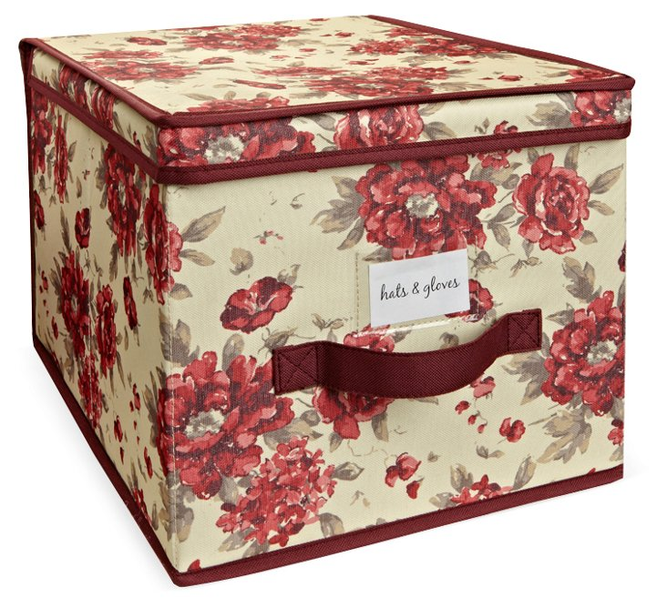 S/2 Cranberry Storage Boxes, Large