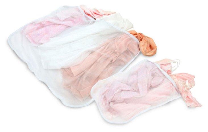 S/2 2-Pc Woolite Mesh Wash Bags