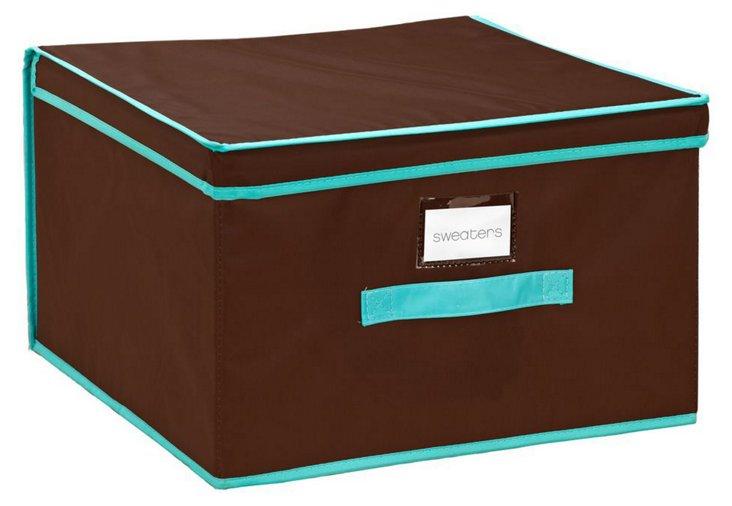 Jumbo Storage Box, Brown/Turq