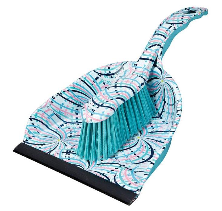 Dustpan & Brush Set, Swirls